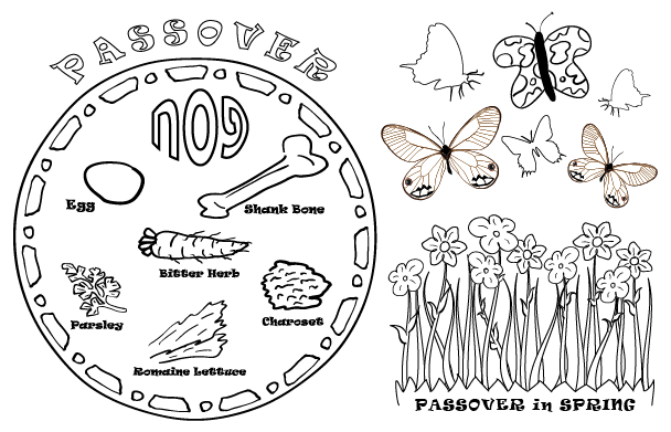FREE DOWNLOAD: Passover Place Mats & Coloring Sheets